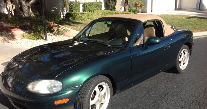 1999 Miata - Green with Beige Top