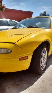 1992 Yellow Mazda Miata