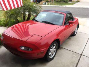 1990 Red Mazda Miata